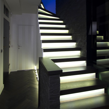 Glowing Staircase Designs from w8m Ltd